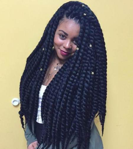 20 Fancy Twist Hairstyles for Natural Hair