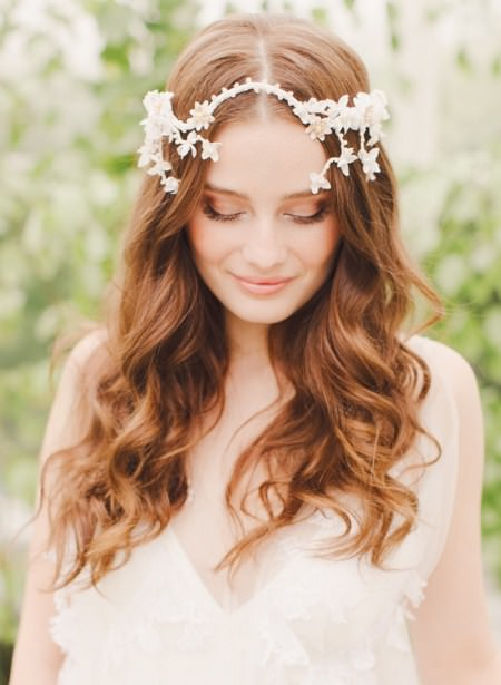 loose and lovely curls wedding hairstyles for long hair