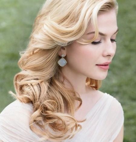 loose waves wedding hairstyles for medium hair