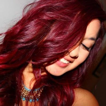 magenta shades of red hair for women