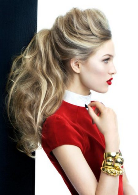 messy ponytail hairstyles for teenage girls