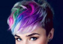 rainbow pixie short haircuts for girls