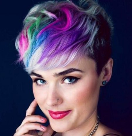 rainbow pixie short haircuts for girls