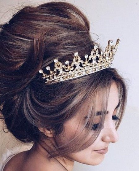 regal bridal top bun wedding hairstyles for long hair