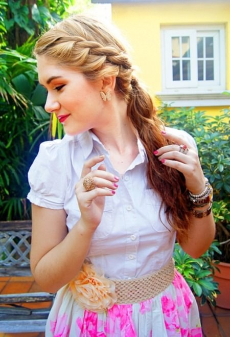 side braided pony hairstyles for teenage girls