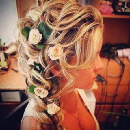 simple braid with real flowers
