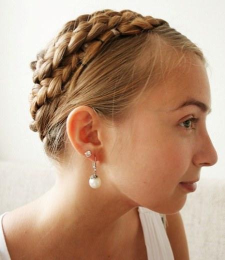 six braid crown braids