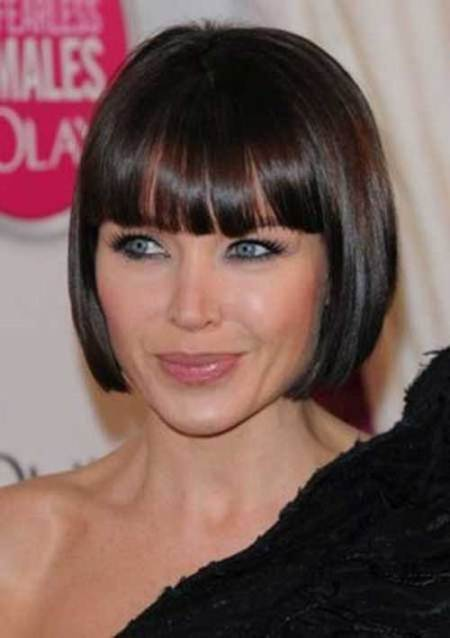 sleek rounded bob short haircuts for girls