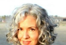 soft curly bob hairstyles for older women