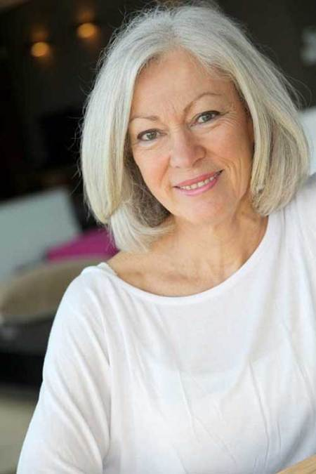 straight gray haircuts for women over 60