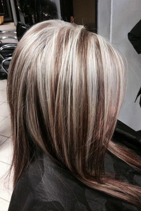 Двойное мелирование на русые волосы