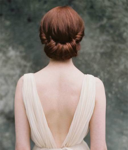 tuck up updo wedding hairstyles for long hair