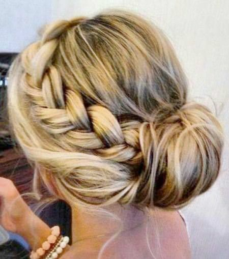 tucked in low updo 'wedding hairstyles for long hair