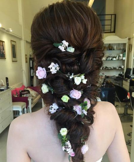twisted graden style wedding hairstyles for long hair