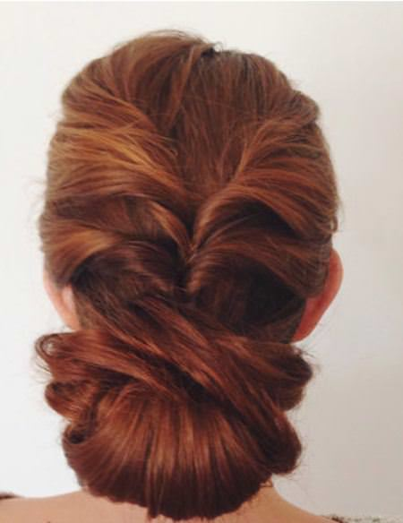 twisted sister low bun updos for curly hair
