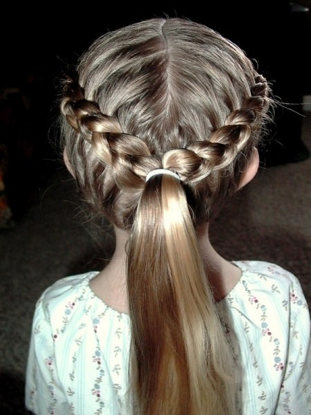 two french braids into a pony braidstyles for girls