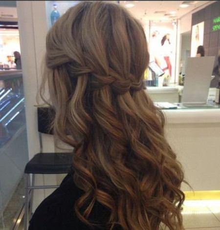 waterfall braid brunette hairstyles