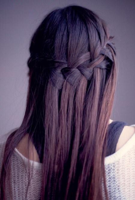 waterfall braid hairstyles for teenage girls