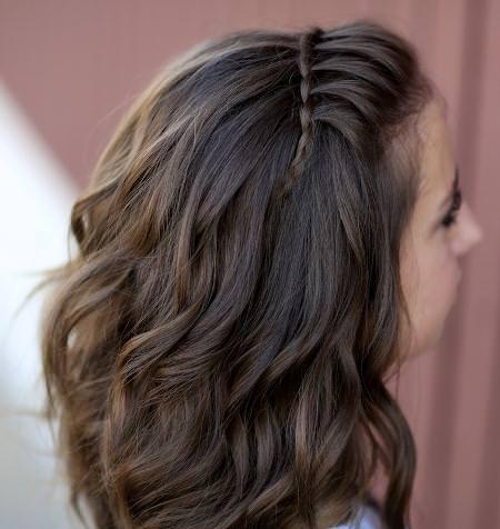 waterfall braid headband hairstyles