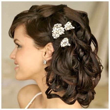 wedding curls with accessory wedding hairstyles for medium hair