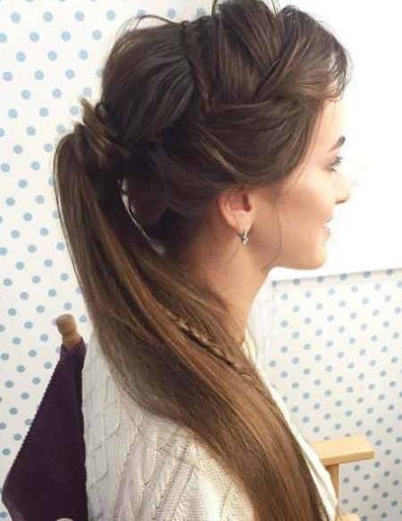 Artistically Undone Braid french braid ponytails