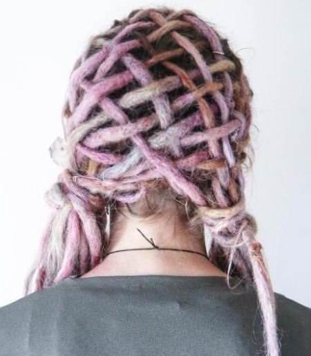 Candyflos pink woven dreadlocks dread locks for women