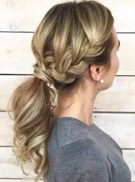Charmingly Soft Ponytail french braid ponytails