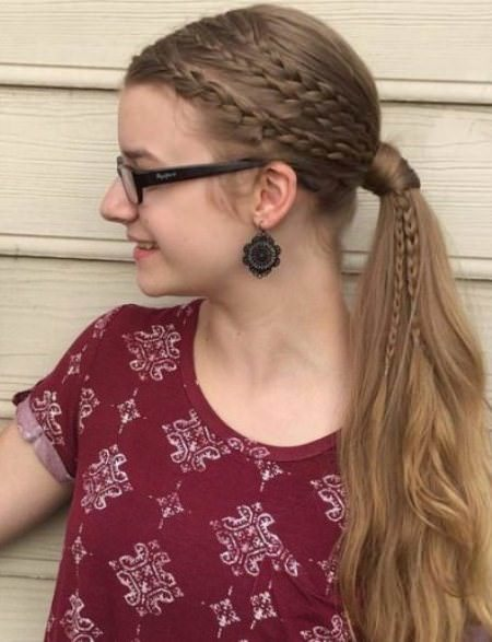 Cute and Carefree Ponytail french braid ponytails