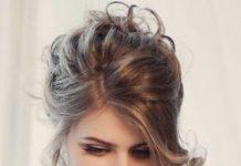 Dressed Down Drama wedding hair updos for elegant brides