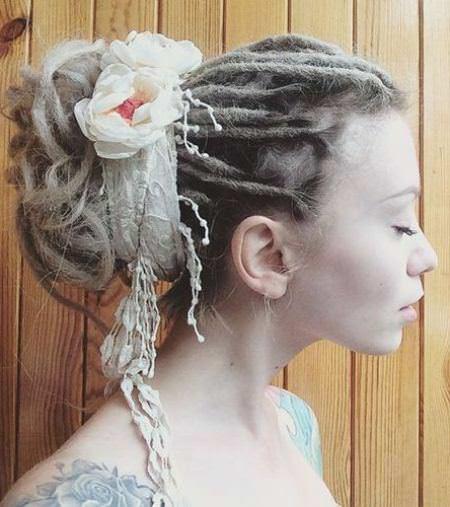 Elegant dreadlock bun updo dread locks for women