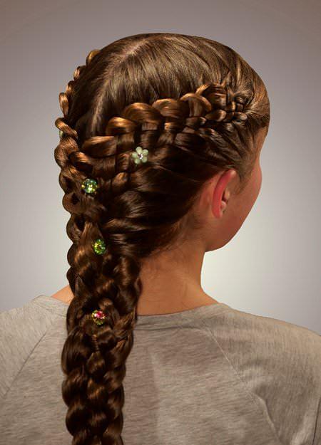 Fantastical French Braid french braid ponytails