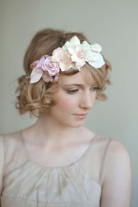 Messy curl bob hairstyle wedding curly hairstyles