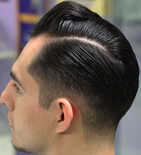 Retro styled proffessional cut hairstyles for men with thick hair