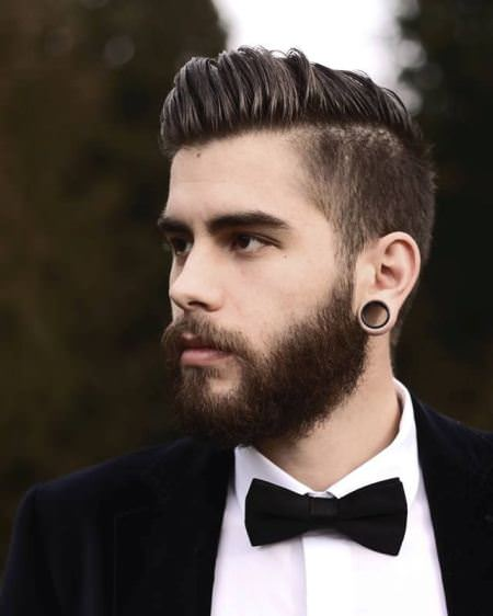 Side parted undercut hairstyles for men with thick hair