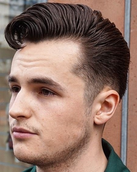 Slick retro waves hairstyles for men with thick hair