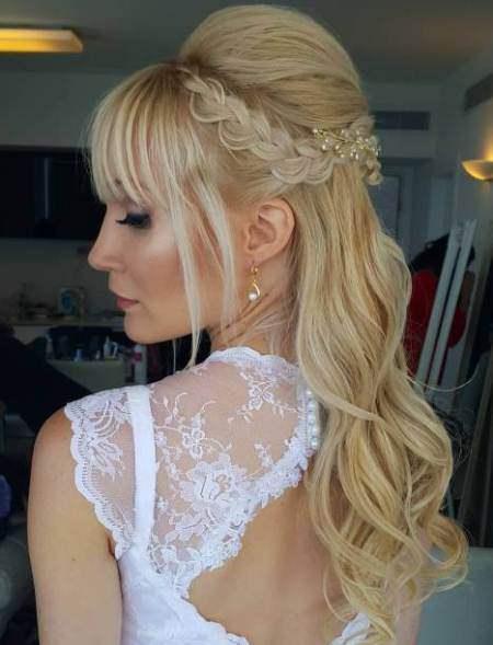 Wedding semi updo half up and half down wedding hairstyles