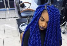 blue senegalese twists for black women