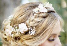 crown braided bun ideas for brides