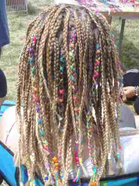 dreadlocks with wrap, beads and braids dread locks for women