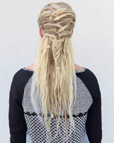 half up dreadlocks braid dread locks for women