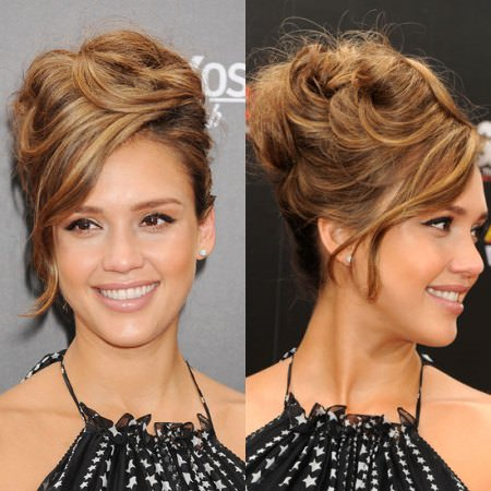 high and curly beehive hairdos