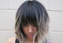 ombre with blunt bangs medium bob hairstyles