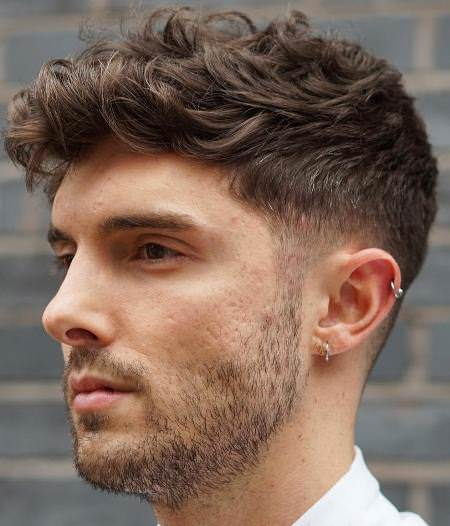 perfectly styled wavy hair hairstyles for men with thick hair