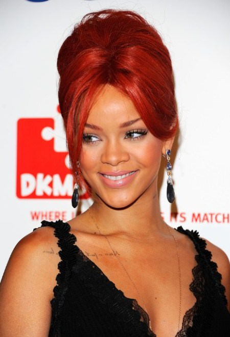 red beehive hairdos