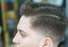 rolled back pompadour hairstyles for men