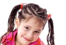 swirling cornrow pigtails baby girl hairstyles