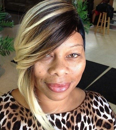 uneven length short weave hairstyles