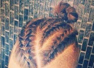 Male braids with bun braids for men